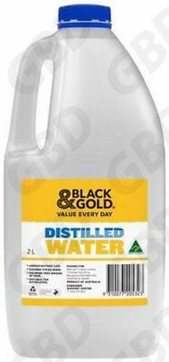 6x BLACK & GOLD DISTILLED WATER 2L