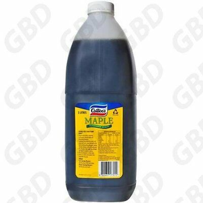 Cottees Maple Flavoured Syrup Topping 3L Bottle