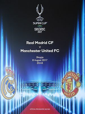 programme Supercup 2017 Real Madrid - Manchester United