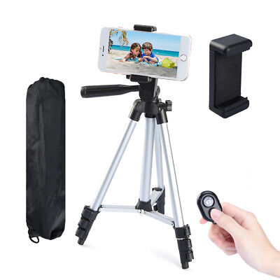 "42"" Camera Tripod Stand Adjustable Aluminum Alloy Phone Tripod Bluetooth Remote"