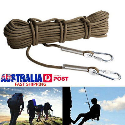 10M 9.5mm Static Rescue Rope Rock Climbing Rappelling Tree Arborist Cord Sling