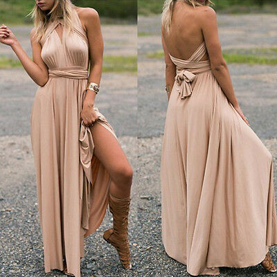 Womens Formal Maxi Dress Bridesmaid Party Evening Wedding Cocktail Long Sundress
