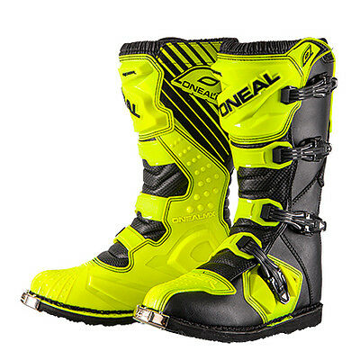 Oneal Rider Hi Viz Fluoro Yellow Motocross Boots Adults Dirt Bike MX Off Road