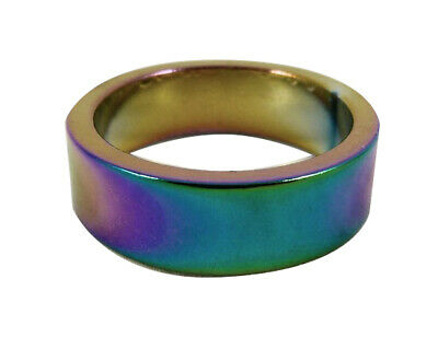 Generic Alloy General Scooter / Bike Headset Spacer 1 1/8 - Oil Slick / Rainbow