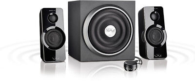 SPEEDLINK GRAVITY WAVE X 2.1-Lautsprechersystem Bassreflex Subwoofer Boxen TV