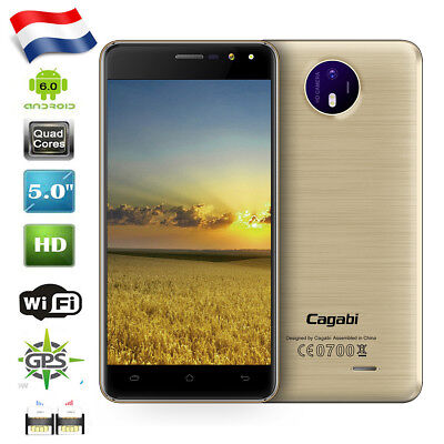 5'' Cagabi One 3G IPS Android 6.0 Téléphone Dual SIM Quad Core Smartphone 8GB FR