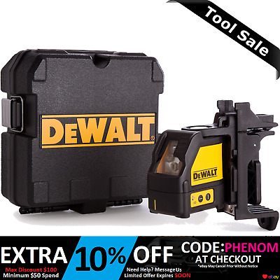 Dewalt 3XAA Self Levelling Cross Line Laser Level Horizontal & Vertical  DW088K