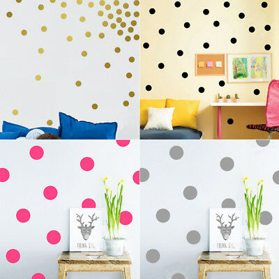 5 Colors Polka Dot Wall Decal Vinyl Sticker Pattern Decor Living Room Bedroom