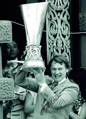 Bobby ROBSON Signed Autograph Ipswich Town UEFA Cup Winner 16x12 Photo AFTAL COA