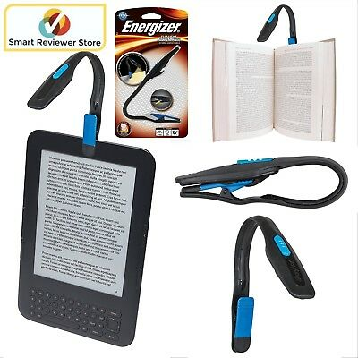 Energizer Flexible Book Reading LED Light Clip On Portable Travel Booklight