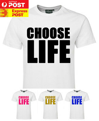 CHOOSE LIFE T shirt George Michael WHAM Tee 80's party Costume Tshirt Retro