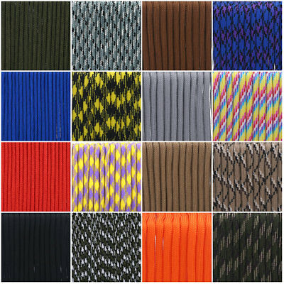 550 Paracord Parachute Cord Rope Lanyard Single 7/9 Strand Core For Climbing JS