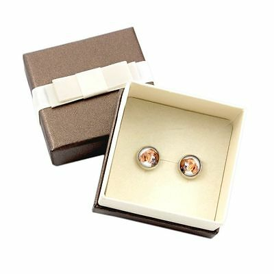 English Pointer. Pet in your ear. Earrings with box. Photojewelry. Handmade. USA