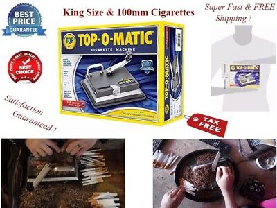 ELECTRIC CIGARETTE ROLLING MACHINE MAKE KING 100 MM CIGS Top O Matic Steel NEW--