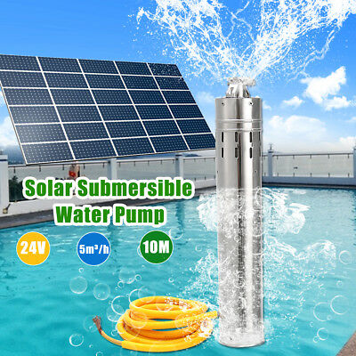 DC 24V 216W Brushless Solar Deep Well Water Pump 5000L/H 10M Head Submersible