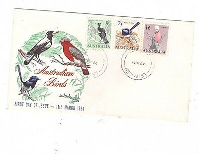 Australia 1964 Birds on FDC, cds NOWRA NSW