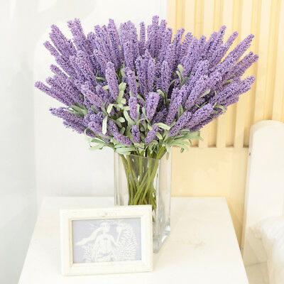 1PCS Wedding Party Silk Artificial Lavender Fake Garden Plant Flower Home Decor