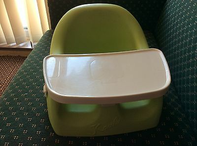 Love n care karibu baby seat with tray. Green. Perfect cond. ideal for travel.