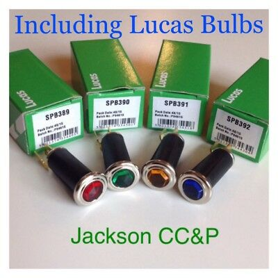 Lucas Wl15 Hex Jewel Warning Lamps Restores Pack Blue, Red, Amber Green  Bulbs