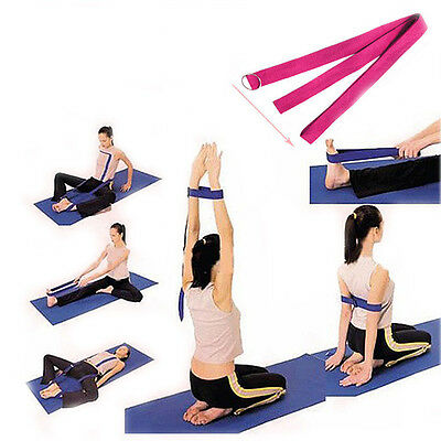 2x Hot Stretch Belt Gym Exercise Webbing Fitness Workout Rope Cotton Yoga Strap