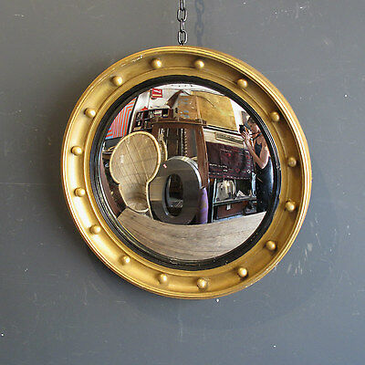 Early 20th Century Vintage Convex Mirror - style reminiscent of porthole mirrors