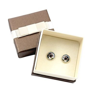 Pointer. Pet in your ear. Earrings with box. Photojewelry. Handmade. USA