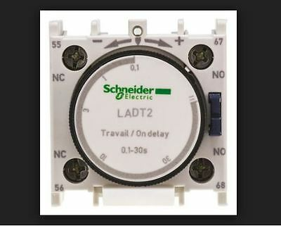 Telemecanique Ladt2 Time Delay Auxiliary Contact Block 1No+1Nc Screw Schneider