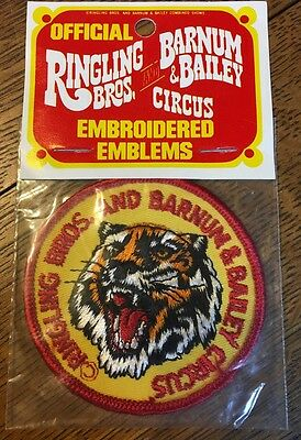 Ringling Bros. and Barnum & Bailey Tiger Face Circus Patch. Mint in Package