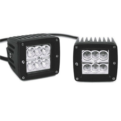 "Marine Boat PWC Pontoon Waterproof 3""x3"" 4900 LED FLOOD LIGHT Bar DECK 12V 18W"
