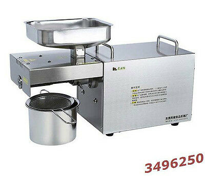110V/220V Automatic Small Oil Press Machine food grade Stainless Steel