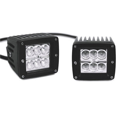 2PCS High Quality Spreader Led Marine Lights for Boat (Flood Light) 12v 3X3 CUBE