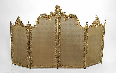 French Victorian (19th Cent) Louis XV Style Fire Screen