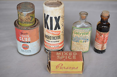 Lot Of Old Grocery Items