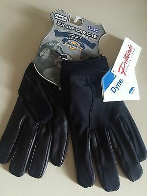 Patrol Gloves Cut resistant LARGE black leather kevlar duty frisk Franklin
