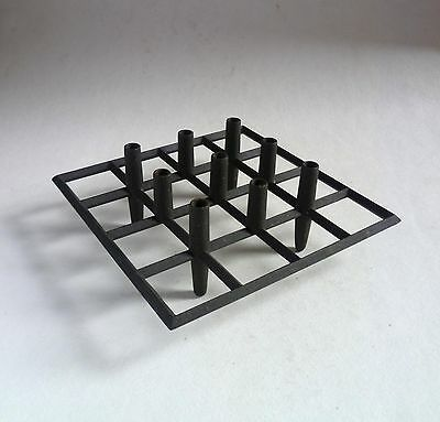 DANSK Designs Jens Quistgaard Cast Iron CANDLE HOLDER. Denmark 1960's Taper