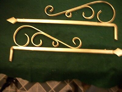 Vintage-Antique-Old- Cast Iron Swing A Way Drapery -Curtain Rods-