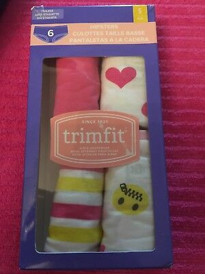TRIMFIT Girls Hipsters Size Small 4 - 6 Lot Of 4 Underwear