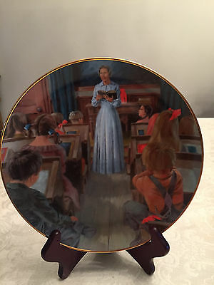 "From 1982 Collector Plate Extremely Rare  Little House Prairie"" School Mom. "" Nm"