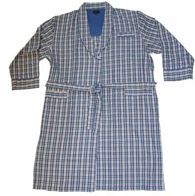 d276f89ce4a Mens Wolsey Checked Design Brushed Cotton Bath Robe Dressing Gown Nightwear