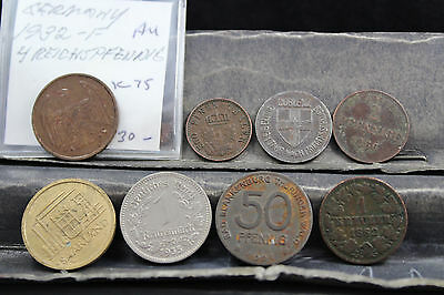 Germany 8 assorted coins   lot G 987
