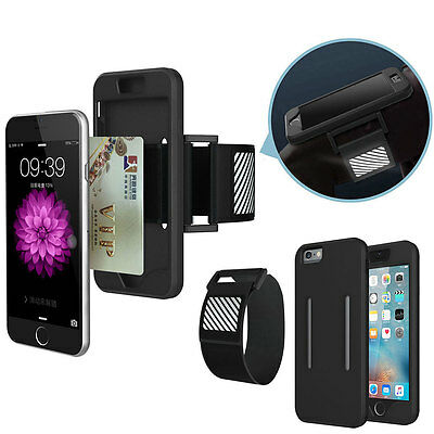 For iPhone 5S/SE/6/6S/Plus Running Outdoor Sport Armband Wallet Case Cover