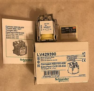 Schneider Electric LV429390 MX 24V DC Shunt Release Compact NSX100-630