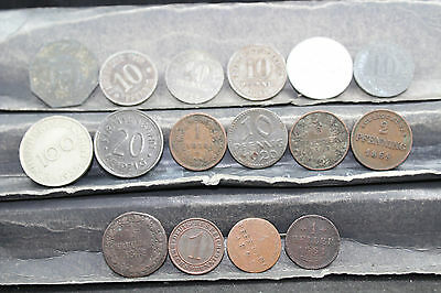 German - Austrian 16 assorted coins   lot G 988