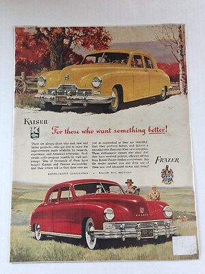 Kaiser-Frazer Car Michigan Automobile Auto Print Advertisement Original 1940 Vtg
