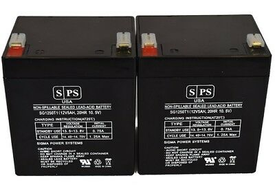 SPS 12V 5AH SLA Battery for Razor Drift Crazy Cart - 25143499 - 2 Pack
