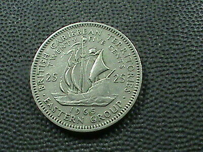 BRITISH  CARIBBEAN  TERRITORIES    25  Cents    1965