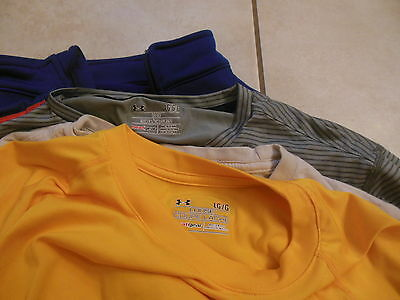 **** Lot of 5 Mens Under Armour Shirts Long Sleeved Short Large Jacket ***