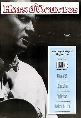 The Roy Harper Magazine 'Hors d'Oeuvres'   Issue No. 21 published in 1992