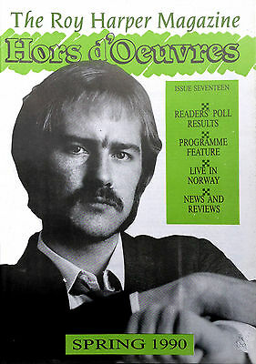The Roy Harper Magazine 'Hors d'Oeuvres'   Issue No. 17 published in 1990
