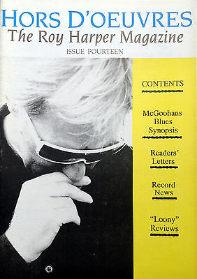 The Roy Harper Magazine 'Hors d'Oeuvres'   Issue No. 14 published in 1989